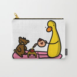 Teddy + Duck Tea Party | Veronica Nagorny Carry-All Pouch