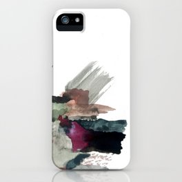 Begin [3]: a minimal abstract mixed media piece iPhone Case