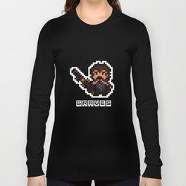 Graves, The Pixel Gunslinger Long Sleeve T-shirt