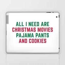 Christmas Movies Funny Xmas Quote Laptop & iPad Skin