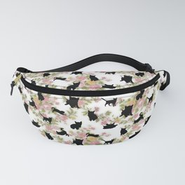 Kittens Floral Fanny Pack