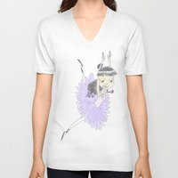 tina fey V-neck T-shirts featuring Phoenix Wright's Friend, Maya Fey the Ballerina by Trillatia