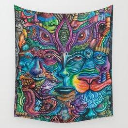 Reyes De La Jungla (Kings of the Jungle) By Tyler Aalbu Wall Tapestry