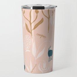 Magic Garden - Pink and Gold Travel Mug