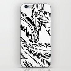 Modern Palm Leaves - black and white iPhone & iPod Skin