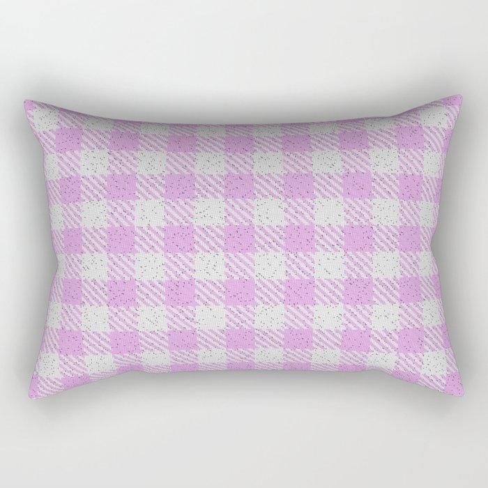 Plum Buffalo Plaid Rectangular Pillow