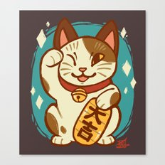 Lucky Cat Canvas Print