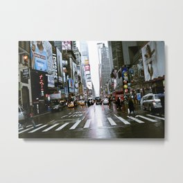 7th Ave & W 49th St Metal Print