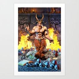 Sabbatic Goat Satanic Baphomet Art Print