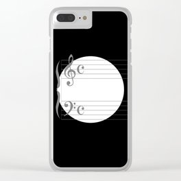 Music Circle Clear iPhone Case