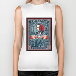 Yes We Scan Obama NSA Big Brother Spoof  Biker Tank