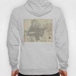 Vintage Map of Marseille France (1840) Hoody