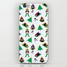 Christmas penguin skiing SB17 iPhone Skin