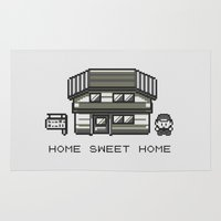 home sweet home Area & Throw Rugs featuring Home Sweet Home  by Zeke Tucker