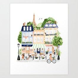 Parisian Buildings Art Print