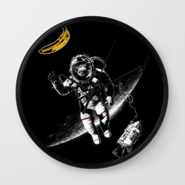 Space Monkey (nd a place to be) Wall Clock
