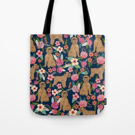 Brussels Griffon florals pattern for dog lovers custom pet friendly gifts for all dog breeds Tote Bag