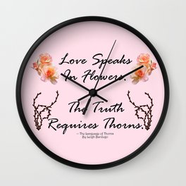The Language of Thorns Wall Clock