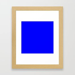 (Blue) Framed Art Print