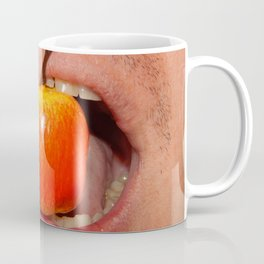 Mimicry of the human mouth with objects Coffee Mug