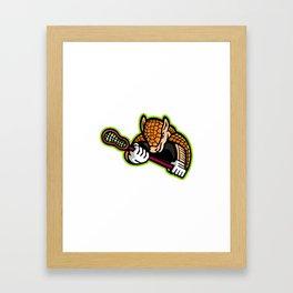 Armadillo Lacrosse Mascot Framed Art Print