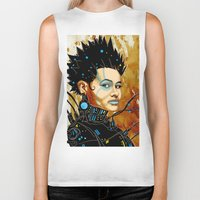 sci fi Biker Tanks featuring BLK SCI-FI 1 by BlackKirby1