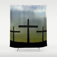 friday Shower Curtains featuring Good friday by Pirmin Nohr