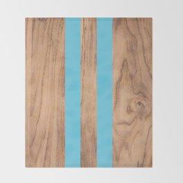 Wood Grain Stripes Light Blue #807 Throw Blanket