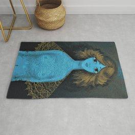 Blue lady Rug