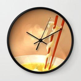 Noodle dragon Wall Clock