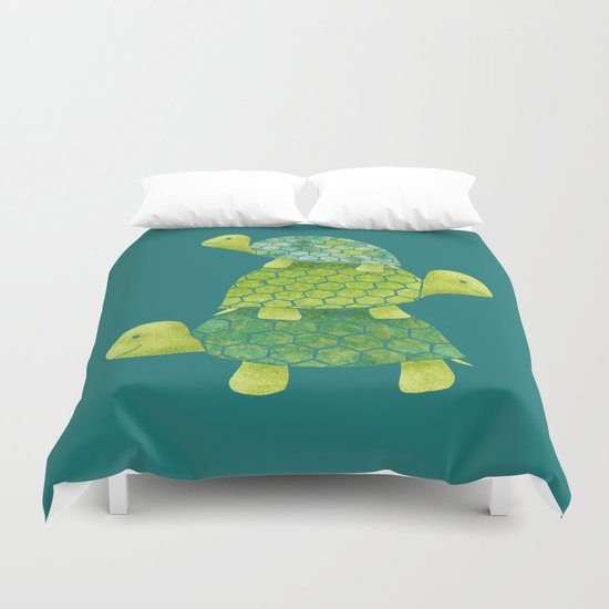 Turtle Stack Duvet Cover