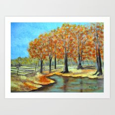 Autumn landscape 3 Art Print