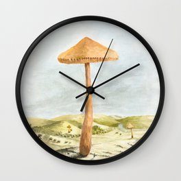 Mushland - Watercolors Wall Clock