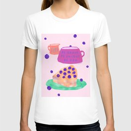 Be Brave Be Unique Be You Blueberry Cake Teatime Illustration T-shirt