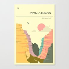 ZION NATIONAL PARK POSTER Canvas Print