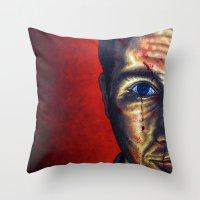 "dramatical murder Throw Pillows featuring ""Murder"" by PMS Artwork"