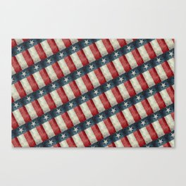Texas State Flag Vintage Pattern Canvas Print
