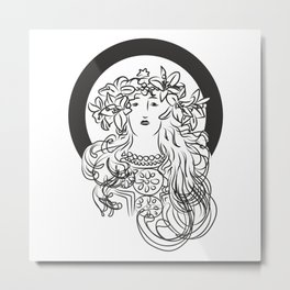 Mucha's Inspiration Metal Print