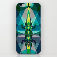 crocodile iPhone & iPod Skins featuring Crocodile by youareconstance
