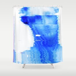 blue statue Shower Curtain