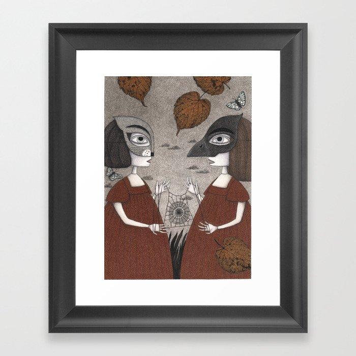 Ana and Eva (An All Hallows' Eve Tale) Framed Art Print