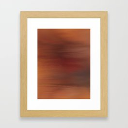Red sky abstract Framed Art Print