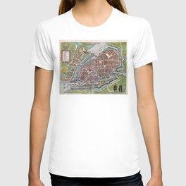 Hamburg Germany antique map plan T-shirt