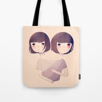 sisters Tote Bags featuring Sisters by Nan Lawson