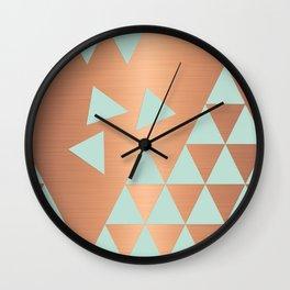 Copper & Mint Wall Clock
