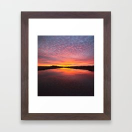 Scott Creek Sunset Panorama 03 Framed Art Print