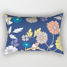 Flower Print Rectangular Pillow