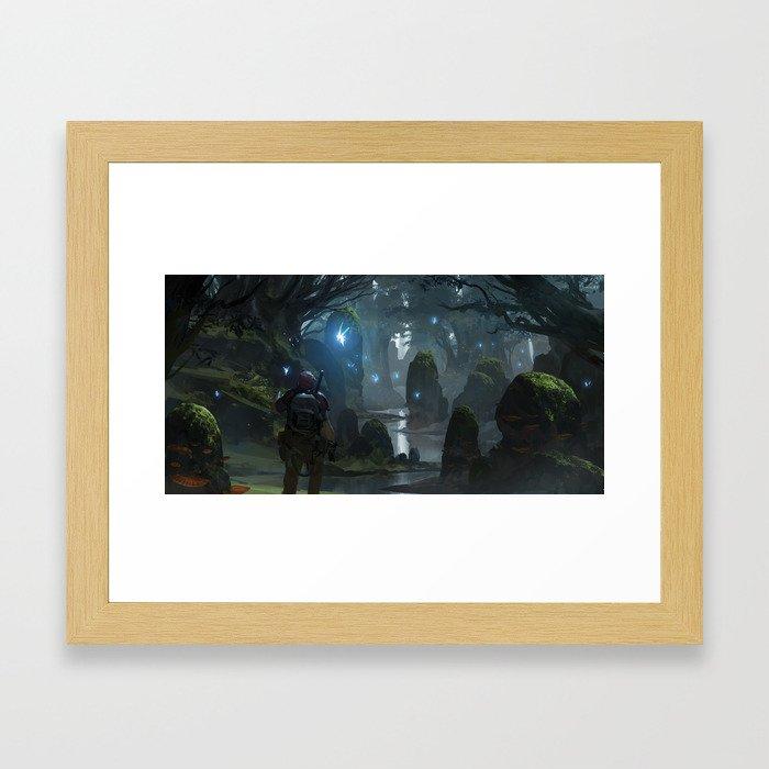 Hero's Grove Framed Art Print