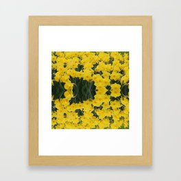 SPRING YELLOW DAFFODILS GARDEN DESIGN Framed Art Print