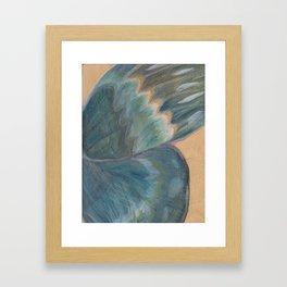 Butterfly Wing On Wood Framed Art Print